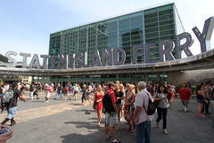Staten Island Ferry Terminal NYC stock images