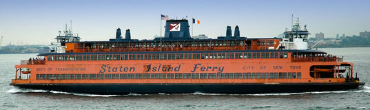 Staten Island Ferry to Manhattan, New York Stock Photo