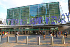 The Staten Island Ferry Whitehall Terminal in Manhattan Royalty Free Stock Photo