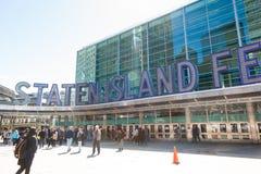 Staten Island Ferry Whitehall Terminal Stock Image