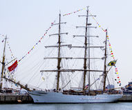 Brazilian tall ship Cisne Branco visits New York during Fleet Week 2012 Royalty Free Stock Photo
