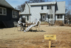 Installation Waiting placed at the place of house destroyed by Hurricane Sandy in Staten Island Stock Photography