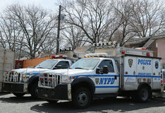 NYPD emergency service vehicles ready to help in Staten Island, NY Stock Photography