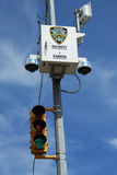 NYPD security camera placed  at the intersection in Staten Island, NY Royalty Free Stock Photo
