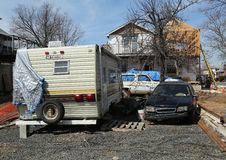 Rebuilding continues five month after  Hurricane Sandy in Staten Island, NY Royalty Free Stock Images