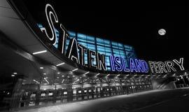 Staten Island promu Terminal wczesny poranek Zdjęcie Royalty Free