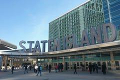 Staten Island promu Whitehall Terminal Obraz Royalty Free