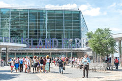 Staten Island promu Whitehall Terminal fotografia stock