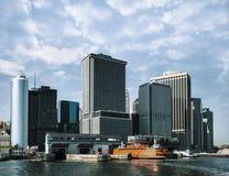 Staten Island promu Whitehall Terminal w lower manhattan Obrazy Stock