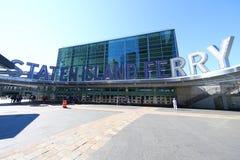 Staten Island promu Whitehall Terminal w lower manhattan obrazy royalty free