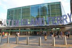 Staten Island promu Whitehall Terminal w Manhattan Zdjęcie Royalty Free
