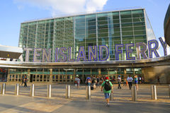 Staten Island promu Whitehall Terminal w Manhattan Obraz Royalty Free