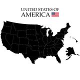 States of America territory on white background. Separate state. Vector illustration stock illustration