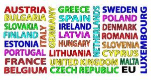 States of EU Stock Image