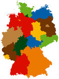 States of Germany stock illustration