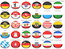 States of Germany flags Stock Photos