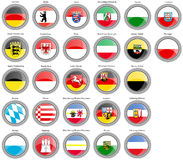 States of Germany flags Royalty Free Stock Images