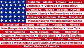 States In Stripes vector illustration