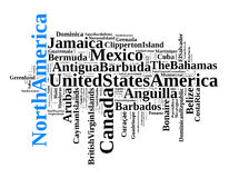States and territories in North America Royalty Free Stock Photography