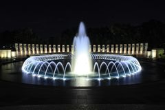 WWII memorial in Washington DC. 50 states in United States of water fountain in WWII memorial in Washington Royalty Free Stock Images