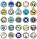 States of USA seals. Stock Image