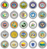 States of USA seals. Stock Images