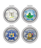 States of USA seals. Vector. Royalty Free Stock Image