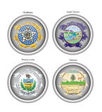 States of USA seals. Vector. Stock Image