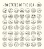 50 States of the USA Stock Images