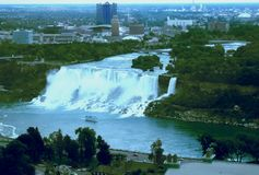 Stateside Niagra Falls Stock Photo
