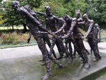 Stateus bronzeo nell'abolizione di Amsterdam Olanda Calles di schiavitù nel Surinam Fotografie Stock Libere da Diritti
