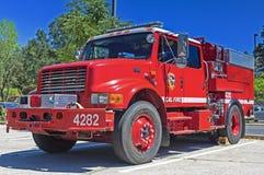 Stati California-uniti, il 12 luglio 2014: Colore rosso iconico Americ Immagine Stock