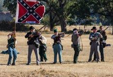 Stati confederati dell'attacco dei soldati di america Fotografie Stock Libere da Diritti