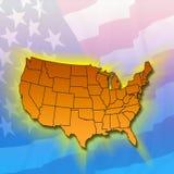 Stati del continente - Stati Uniti illustrazione di stock