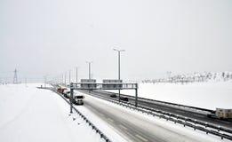 Stati di azionamento di inverno immagini stock