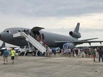 Static-Anzeigen bei 2018 großes Neu-England Airshow in Chicopee, Massachusetts Lizenzfreie Stockbilder