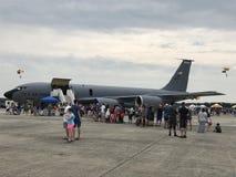 Static-Anzeigen bei 2018 großes Neu-England Airshow in Chicopee, Massachusetts Stockbild
