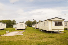 Static caravan holiday homes at U. K. holiday park. Stock Images