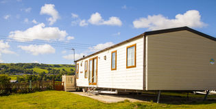 Static caravan holiday homes at a U. K. holiday park Royalty Free Stock Photo