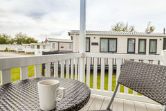Static caravan Holiday Park. In Prestatyn, North Wales, United Kingdom Stock Photos
