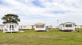 Static caravan Holiday Park Royalty Free Stock Photo
