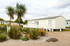 Static caravan Holiday Park Wales G.B Royalty Free Stock Images