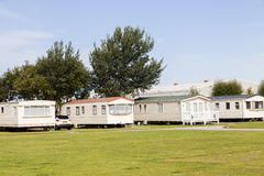 Static caravan Holiday Park Wales G.B Stock Photo