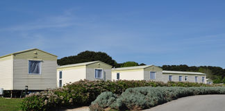Static Caravan Park Stock Photos