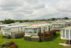 Static Caravan Trailer Park, England Stock Photography