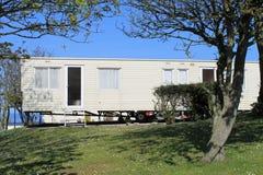 Static caravan on trailer park Royalty Free Stock Images