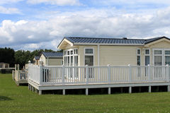 Static caravans in holiday park Royalty Free Stock Image