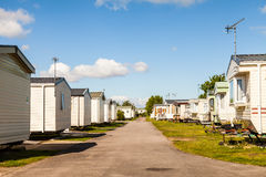 Static caravans on a typical british summer holiday park. Stock Photography
