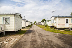Static caravans on a typical british summer holiday park. Stock Photo