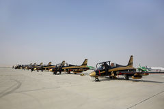 Static display of Al Fursan UAE display team aircraft Stock Images